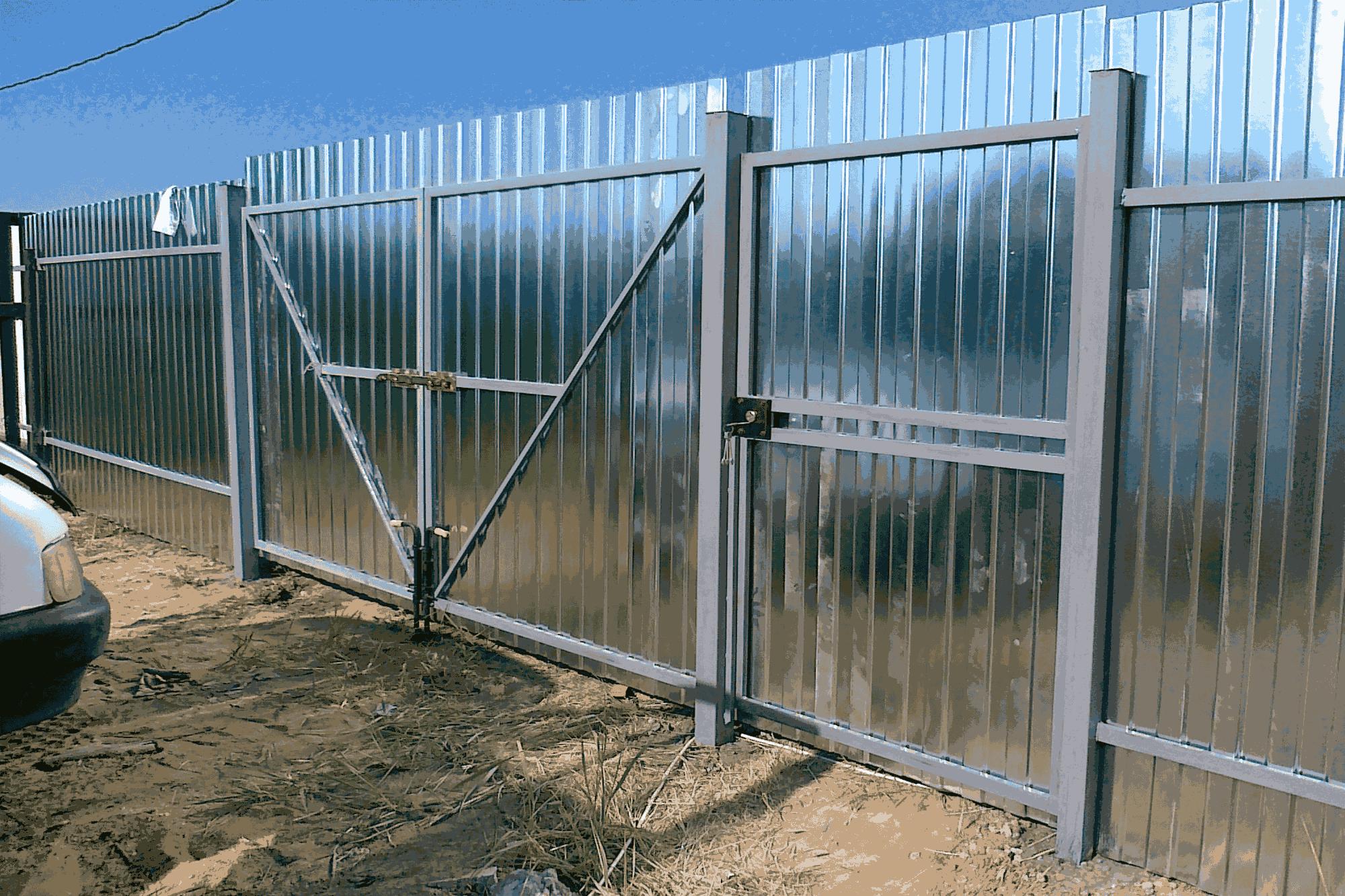 Калитка на забор из профлиста своими руками 88